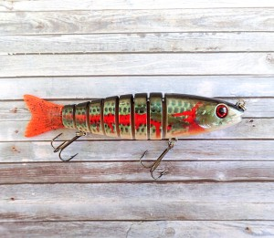 OBT Swimbait Bleeding Mullet Natural Red Tail Bib-less