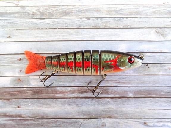 OBT Swimbait Bleeding Mullet Natural Red Tail Bib-less