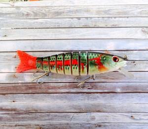 OBT Swimbait Bleeding Mullet MK2 Red Tail Diver