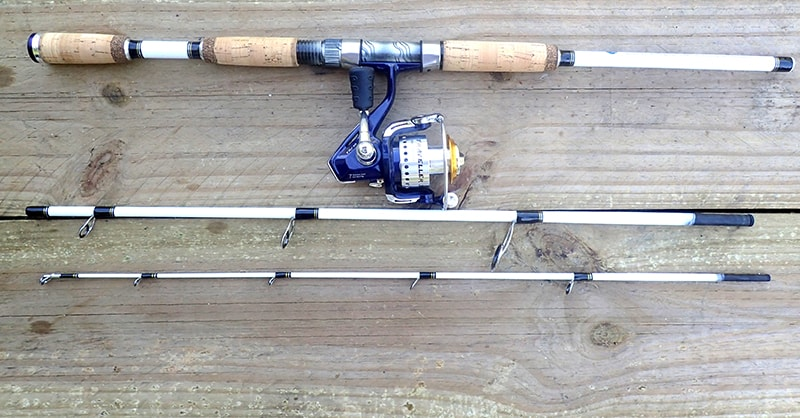 White Tiger Spin Travel Rod with Traveller TRV30