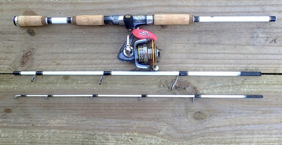 White Tiger Spin Travel Rod with Sea Side SW-CL3000