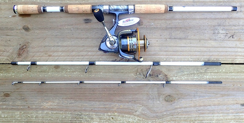 White Tiger Spin Travel Rod with Sea Side SW-CL4000