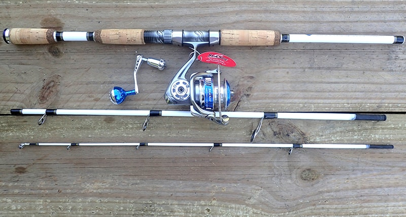 White Tiger fishing rod combo