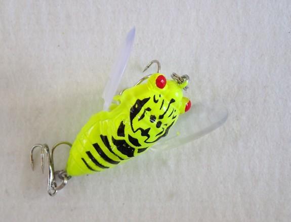 Cicada Winged 38mm Fluro Yellow Black