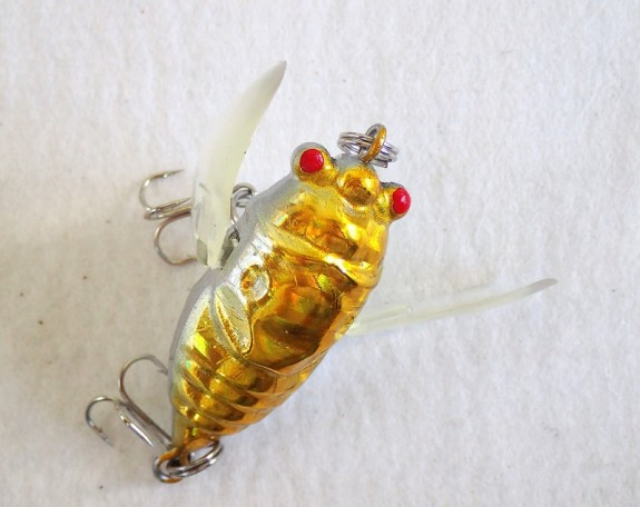 Cicada Winged 38mm Gold Silver